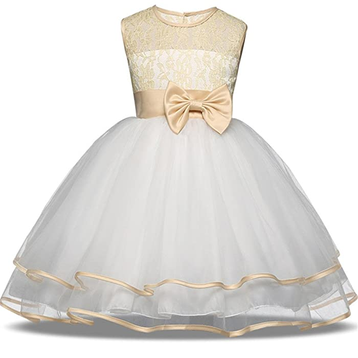 Amazon.com: Flower Girl Dresses for Wedding Size 3 4 2-3 Years Old ...