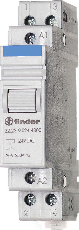 Finder 222390244000PAS Relay Module 24 Vdc 1 NO + 1 NC 20 A AgSnO2