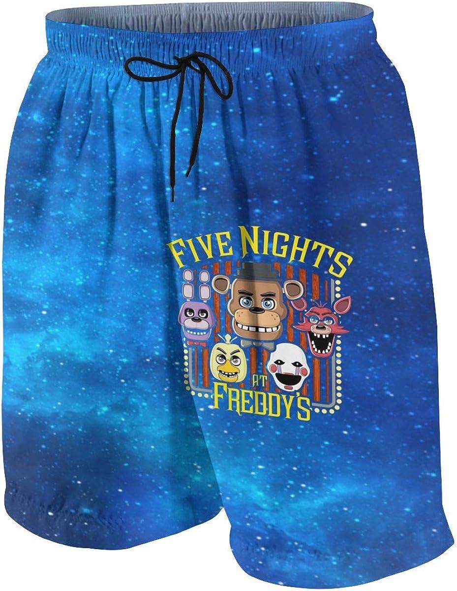 7-8 Five Nights at Freddys Bear Boys Girls Shorts Beach Swim Pants Teen S