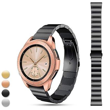 Feskio - Correa de Repuesto de Acero Inoxidable para Reloj Inteligente Samsung Galaxy Watch (42