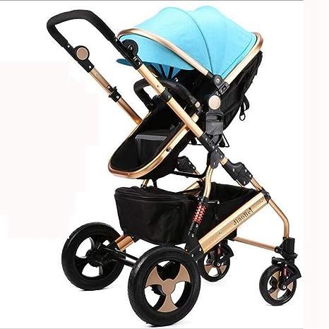 Ambiguity Sillas de Paseo,Cochecito de bebé Puede ser reclinables Carro bebé Plegable Silla de