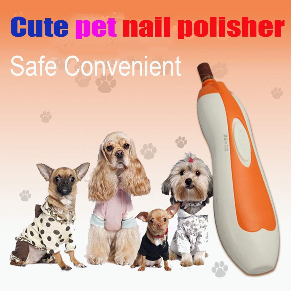 Electric Dog Nail Grinder Kit for Dogs Pets Nail Clipper Cat Nail Trimmer Painless Pet Nail Paw Trimming Grinding Tool with 6 Grinding Cores for Small to Medium Animals