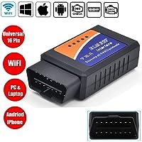 WildAuto WiFi OBD2 ELM327 Diagnosegerät Auto Scanner OBD II Für Alle Fahrzeuge, Auto Diagnose OBD2 Stecker Für IOS, Android, Windows, Code Leser Fehlerspeicher Lesen