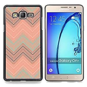 Stuss Case / Funda Carcasa protectora - Peach trullo Modelo en colores pastel - Samsung Galaxy On7 O7