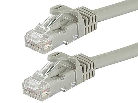 Flexboot Cat6 Ethernet Patch Cable Network RJ45 Stranded UTP 24AWG 50ft White