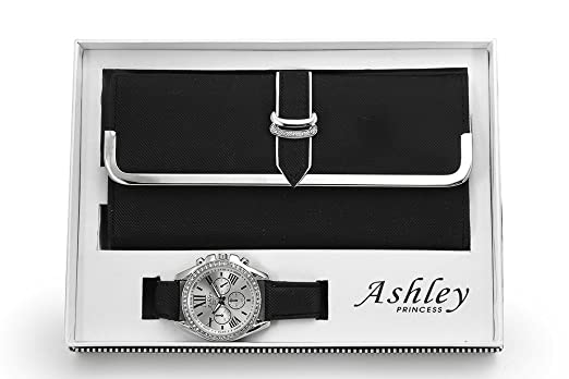 Amazoncom Womens Matching Watch Wallet Black Watches