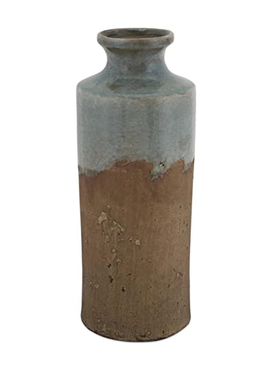 Amazon Melrose Pack Of 4 Hand Glazed Rustic Vase Stoneware In