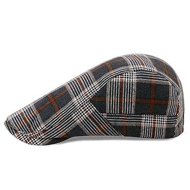 27270727f6 Ehoolpy Mens Flat Cap Outdoors Racing Hat Golf Caps Gents: Amazon ...