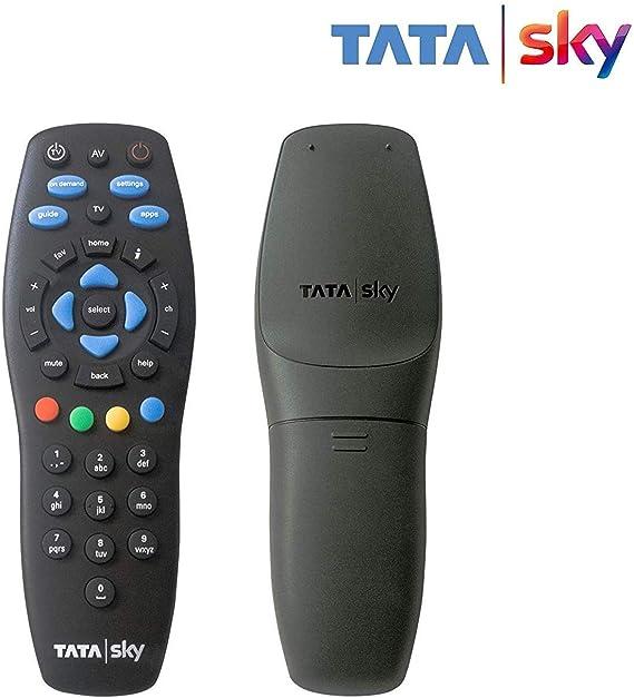 REMOTE ESSENTIAL TATASKY Plastic Dth Remote Controller Black