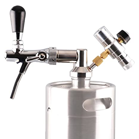 64oz/128 oz Mini barril grifo dispensador de cerveza de acero inoxidable Growler grifo/