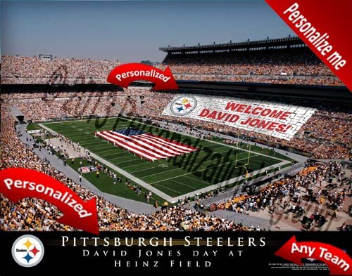 Pittsburgh Steelers Team Stadium Print - Personalized Officially Licensed - Print Personalized Stadium