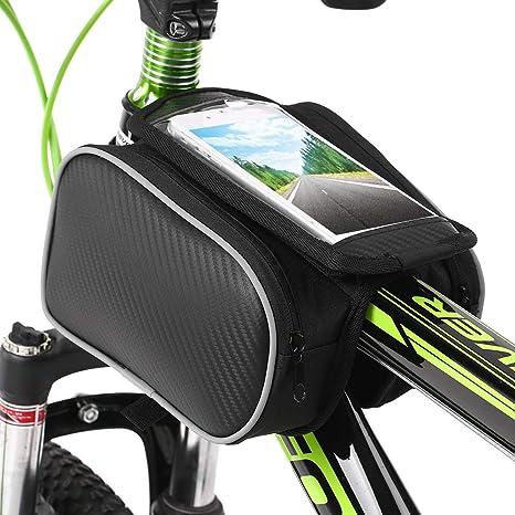 Lixada Bolsa de Tubo para Bicicleta Bolsa de Teléfono con Pantalla ...