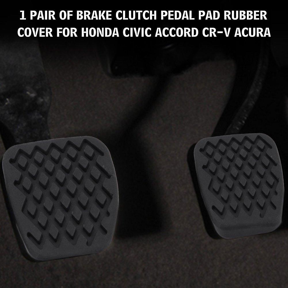 KIMISS 1 par de Cubierta de goma para freno y pedal de embrague Funda del pedal del coche: Amazon.es: Coche y moto