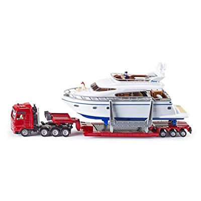 Siku 1849 SCHWERTRANSPORT MIT Yacht: Siku: Toys & Games