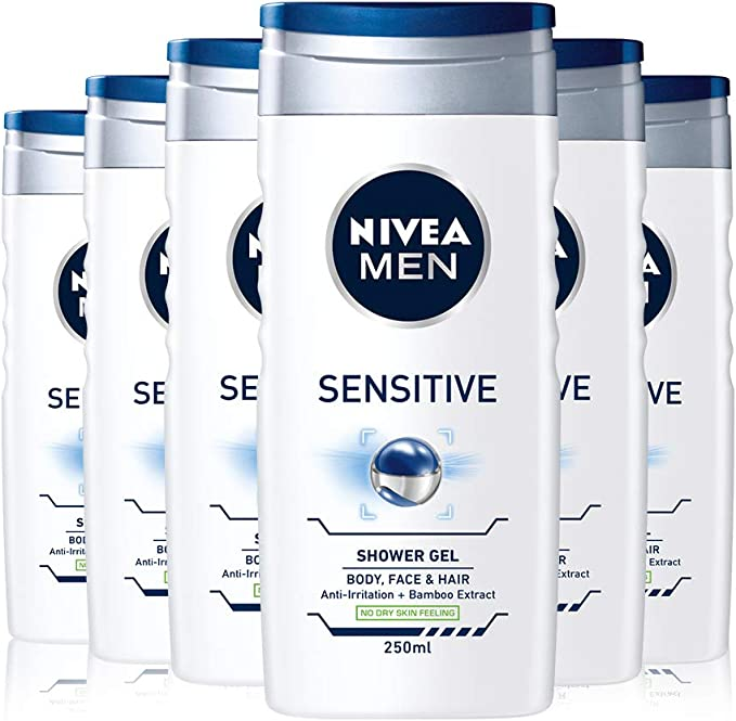 Nivea men - Sensitive, gel de ducha, pack de 6 (6x 250 ml): Amazon ...