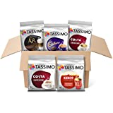 Tassimo Variety Box (Costa, Kenco, L'OR, Cadbury) - Pack of 5 (56 Servings)