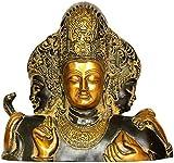 Trimurti From Elephanta (Brahma, Vishnu and Mahesha) - Brass Statue