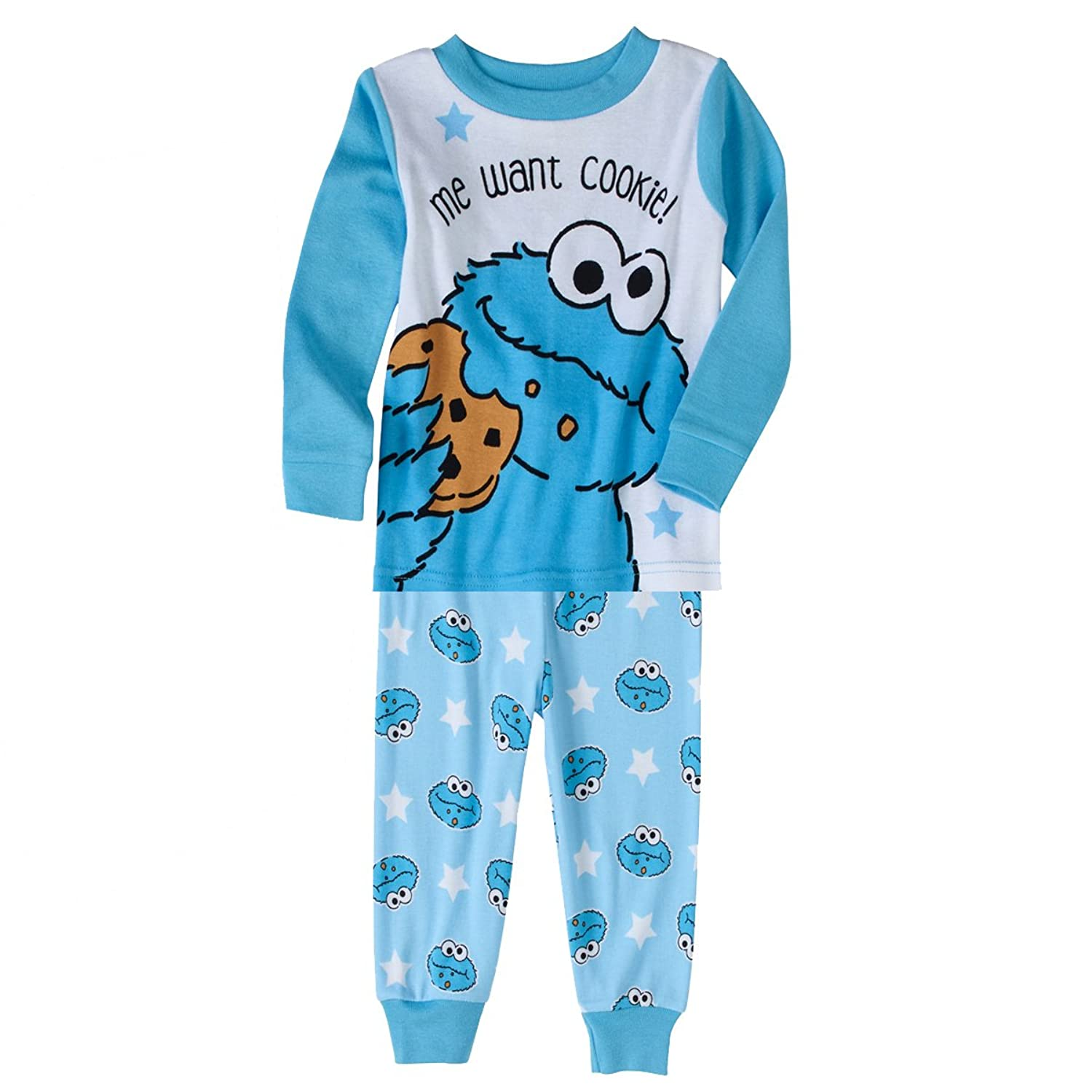 Amazon Sesame Street Me Want Cookie Monster Womens Pajama in