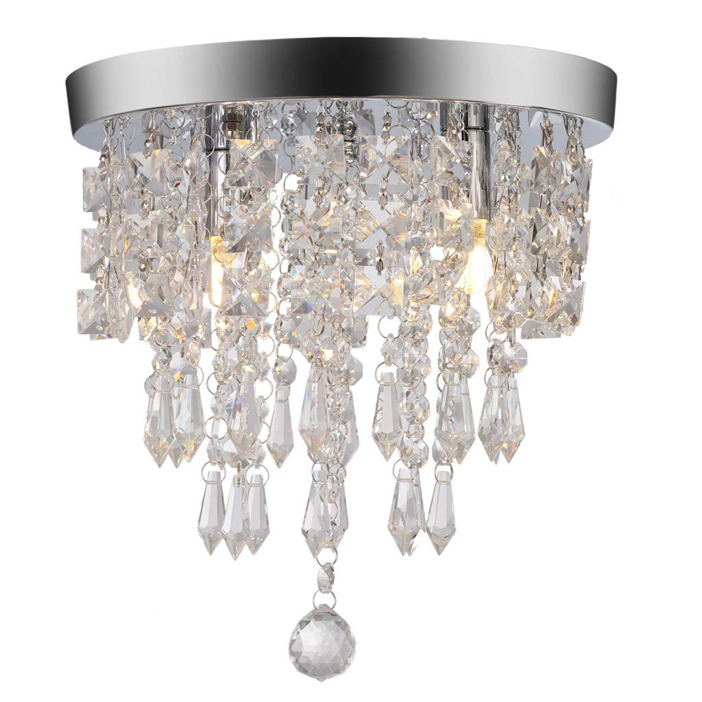 WONdere Crystal Chandelier Modern Home Decor Crystal Ball Fixture Pendant Ceiling Lamp (C)
