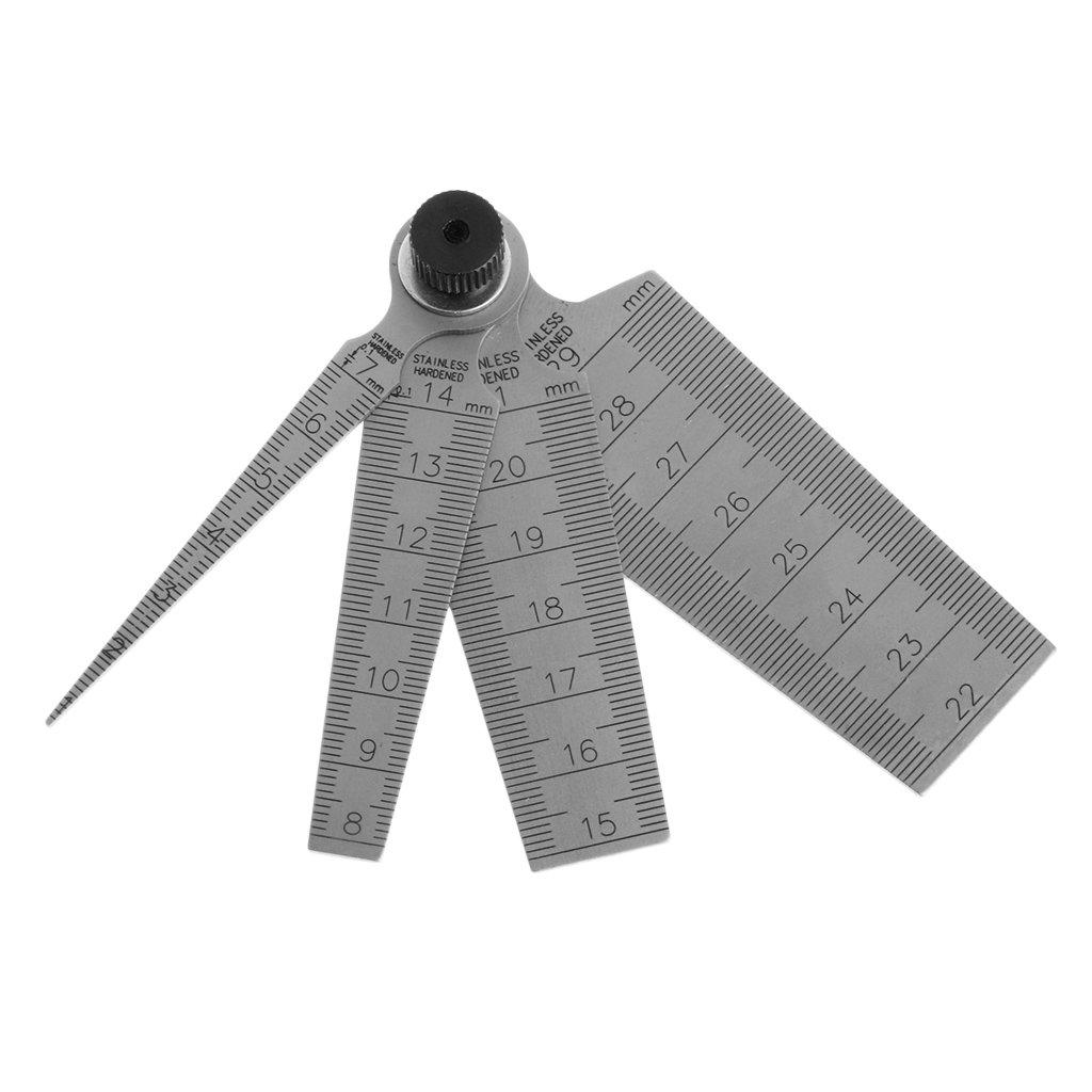 A0127 0mm-29mm Spaltloch-Messkegel-Lineal Tiefe Inspektionswerkzeug 80mm