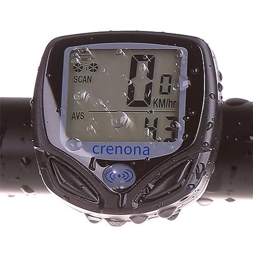 crenova étanche sans fil ordinateur de vélo vélo Odometer Speedometer avec fonction réveil automatique et LCD Feu arrière