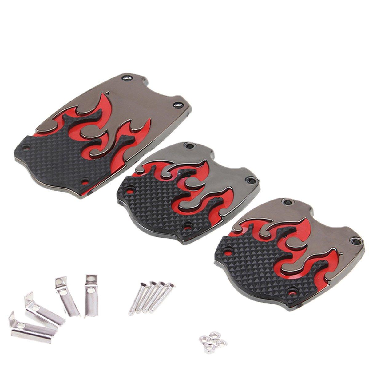 Possbay 3PCS Car Gas Brake Clutch Pedal Non-Slip Foot Treadle Cover Pad Universal