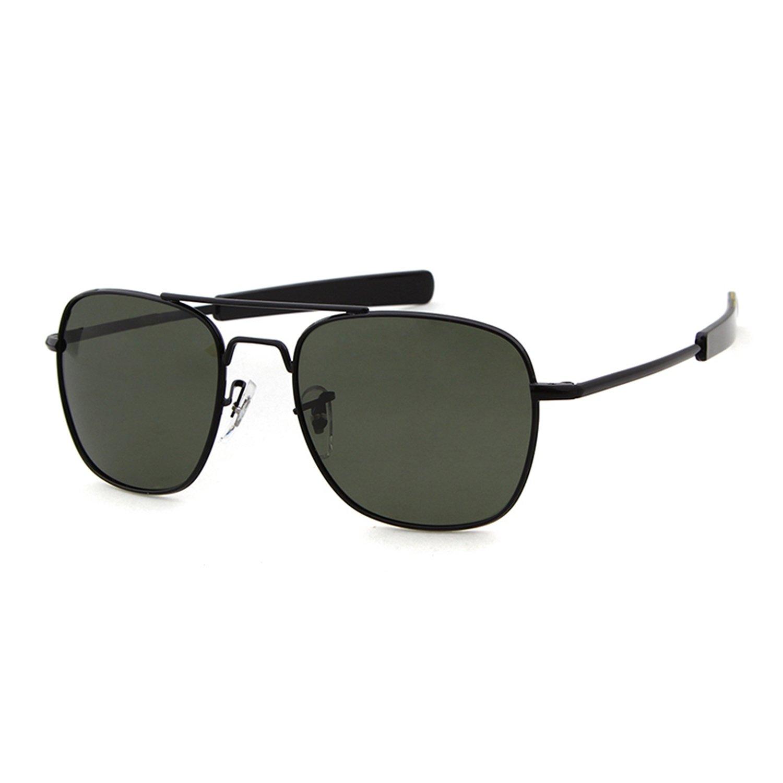 2feb06b595a Amazon.com  Aviator Sunglasses Polarized For Men Women Square Mirror Metal  Frame Sun Glasses  Home   Kitchen
