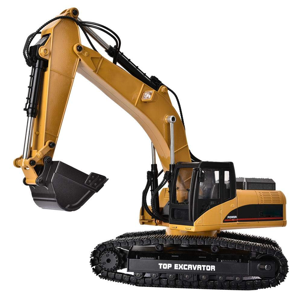 1580 1//14 Scale 23 Channel Metal Excavator Engineering Vehicle Model RC Car Toy Birthday Xmas Gifts for Kids Boys Nannday Remote Control Truck