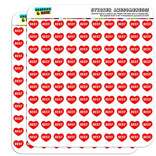 Graphics and More I Love Heart Beef Planner Calendar Scrapbooking Crafting Stickers - 200 1/2