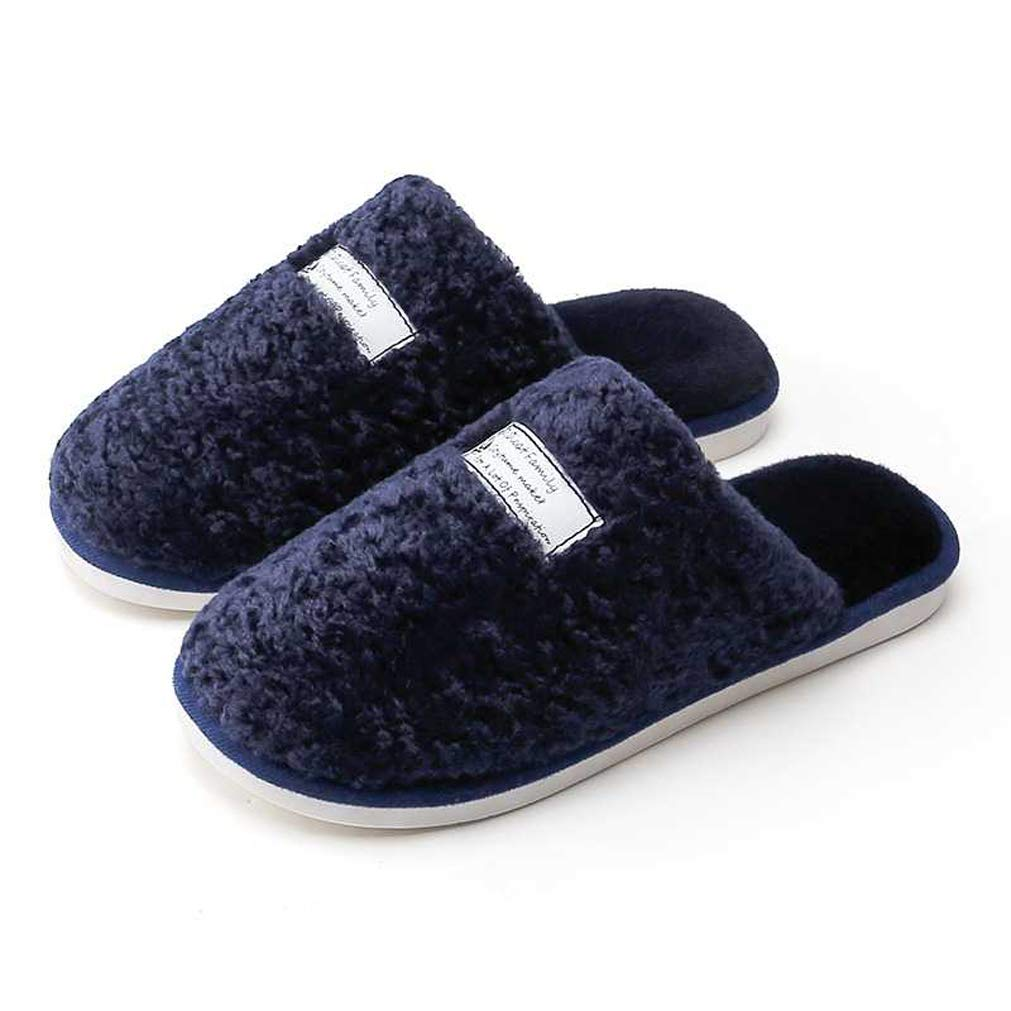 AMAKU Women & Men Slip-on Slippers with Plush Fleece Lining House Fuzzy Anti-Slip Slippers for Indoor Use
