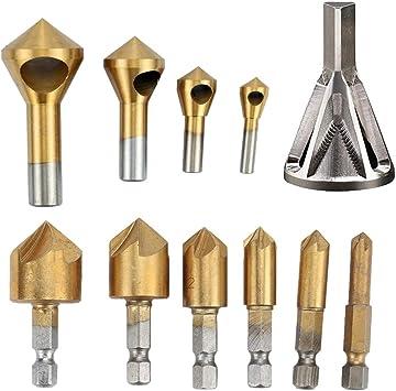 OCGIG 4pcs Titanium Coated Countersink Chamfer Tool Deburring Tool Set Metal Wood Drill Bits Zhongbo Business