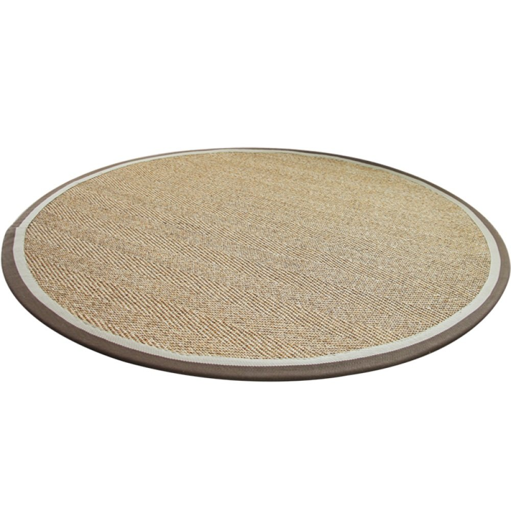 QXJPZ Tapis, rond, sisal, nordique, salon, canapé , bureau, chaise pivotante pour ordinateur, tapis de sol (taille : Diameter100CM) canapé