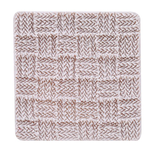 Rurah Fondant Impression Mat, Knitting Sweater & Crochet Texture Embossed Design- Silicone-Cake Decorating Supplies for Cupcake Wedding Cake Decoration,2#