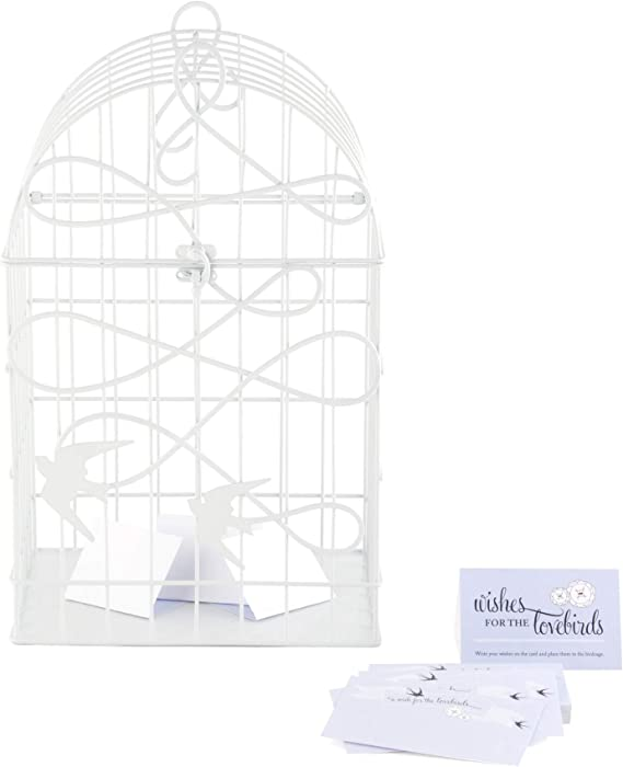 Modern Decorative Birdcage With Birds In Flight White Home Kitchen Amazon Com
