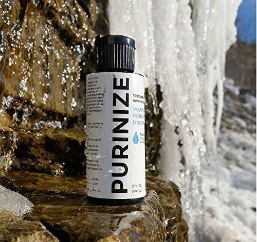 PURINIZE - La mejor y única solución de purificación de agua natural patentada - libre de productos químicos para uso diario y purificación de agua de ...
