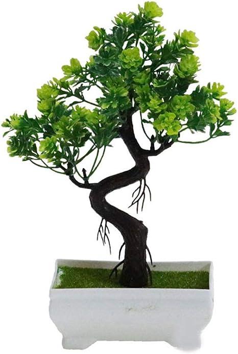 Amazon Com Fortune God Artificial Plants Bonsai Plastic Simulation Tree Desktop Potrative Fake Flowers Leaves Garden Deep Sapphire Home Kitchen