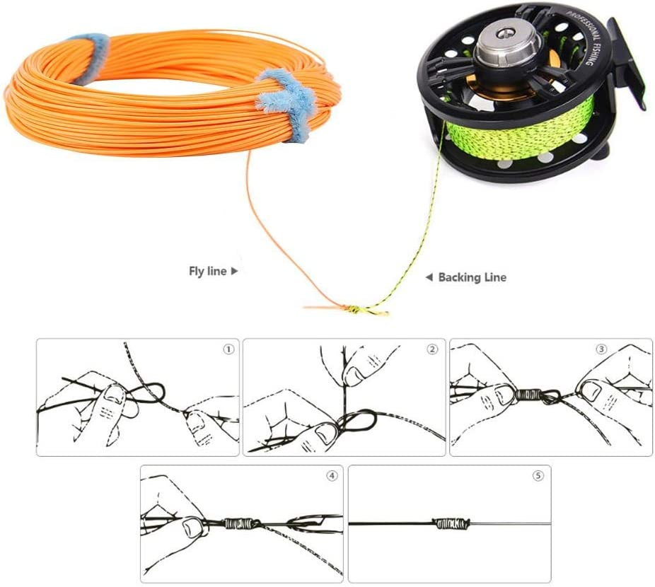 Zerone Fly Fishing Line Weight Forward Floating Line 100FT 5 Sizes WF4F WF5F WF6F WF7F WF8F for Stream River Lake