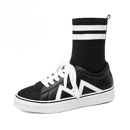 Zapatos para mujer HWF Calcetines de Mujer Zapatos de tacón Alto de otoño Casual Plana con
