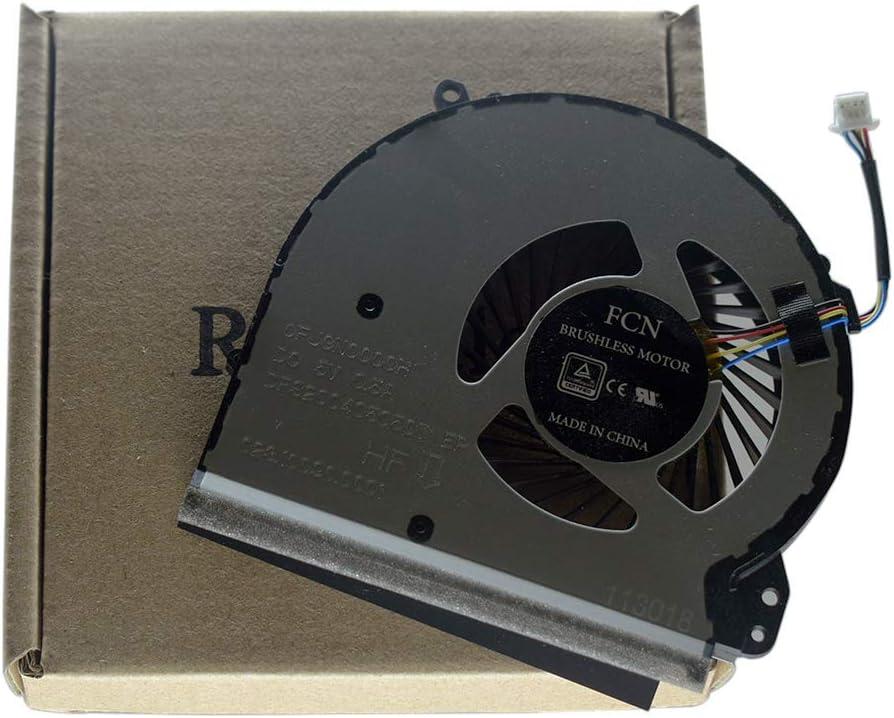 Rangale CPU Cooling Fan for HP 17-X 17-BS 17-Y 17-AK 17-AK000 17-AK010NR 17-AK061NR 17-AK013DX 17-BS022NR 17-bs061st 17-x051n 17-x116dx TPN-M121 Series DFS200405050T 926724-001 856682-001 856681-001