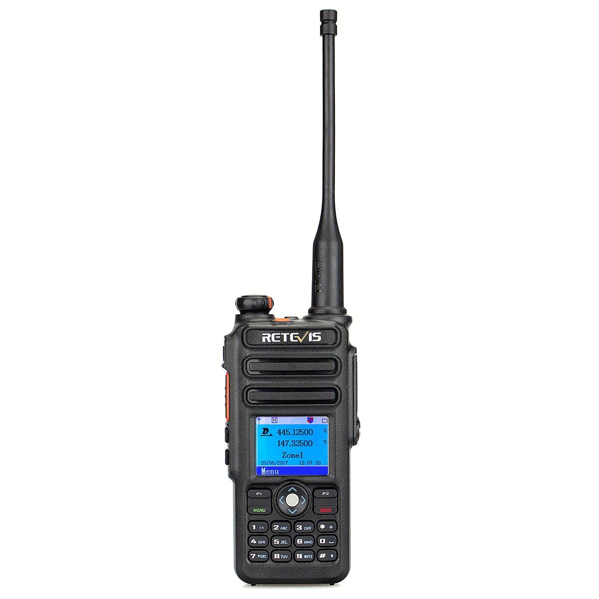 Retevis RT82 Dual Band DMR Digital 2 Way Radio Waterproof 3000 Channels 10000 Contacts List GPS Ham Amateur Radio with Record Function FA9127B-J9127P