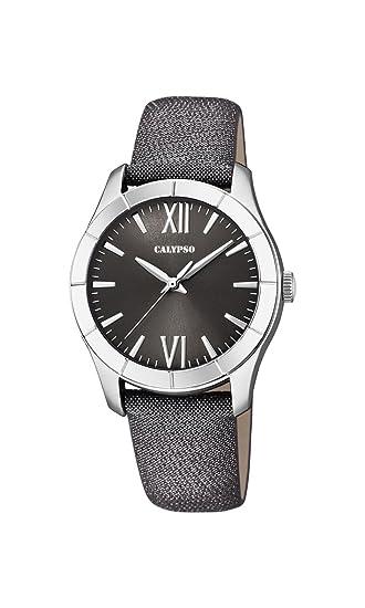 Calypso Reloj Análogo clásico para Mujer de Cuarzo con Correa en Cuero K5718/3: Calypso: Amazon.es: Relojes