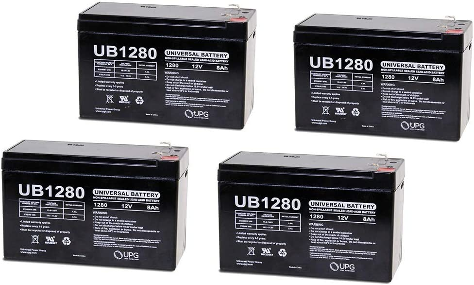 12V 8Ah Battery Replacement for Power Patrol SLA1079-4 Pack