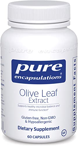 Pure Encapsulations - Olive Leaf Extract - Hypoallergenic Supplement Supports Immune System and Healthy Intestinal Environment - 60 Capsules
