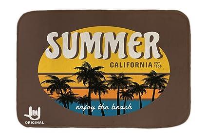 Cama Perro Agencia Viajes Vacaciones Verano California impreso 40x60 cm