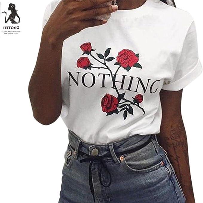 Blusas para Mujer Verano Manga Corta, Covermason Camiseta de Manga Corta de Verano para Mujer