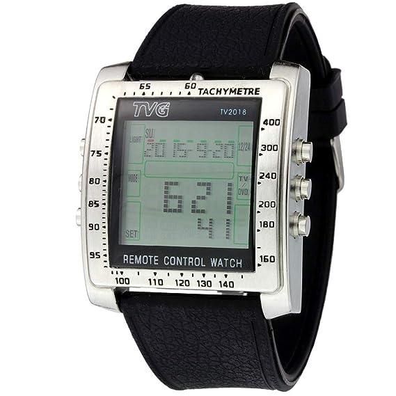 dc71ed09fb1c Reloj digital con mando a distancia para Televisión  Amazon.es  Relojes