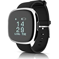 Pulsera Inteligente, YOMYM Brazaleta Inteligente de Actividad, Reloj Inteligente Deporte, Podómetro (contador de pasos), contador de calorías, cronómetro, Pantalla LED Compatible con iOS, Android
