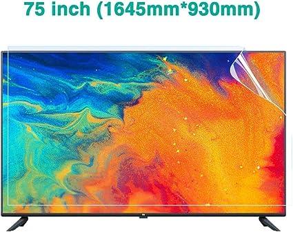 HDCW Película 75 Pulgadas Super Clear LCD Protectora para el Monitor de TV, Anti Pantalla de luz Azul Protector de LED, LCD película Protectora Anti-Reflectante para Ojos Protege: Amazon.es: Hogar