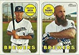 2017 & 2018 Topps Heritage Milwaukee Brewers 2 Team Set Lot Gift Pack 25 Cards Eric Thames Orlando Arcia