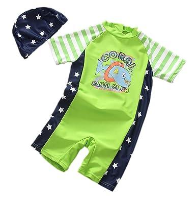 d276e9d357 TAIYCYXGAN Baby Toddler Boys One Piece Swimsuit Sunsuit Kids Rash Guards  Swimwear Bathing Suit UV Sun Protective - Green -: Amazon.co.uk: Clothing